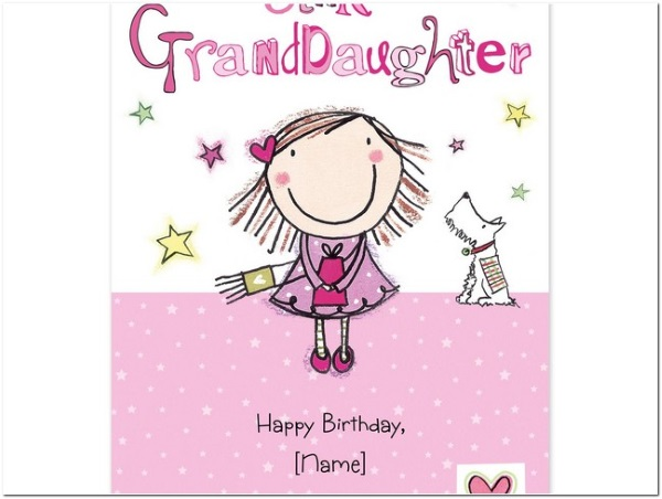 happy birthday to granddaughter from grandparents