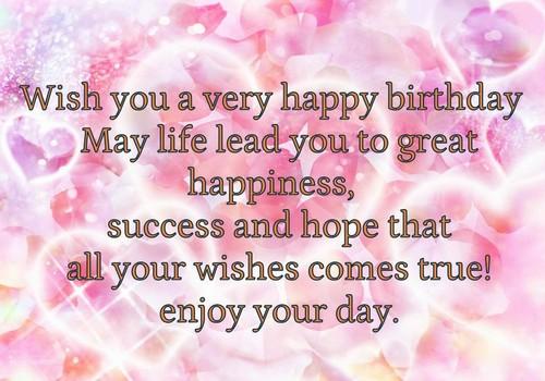 Wish You Happy Birthday with Birthday Message