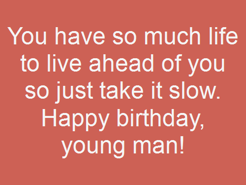 happy birthday young man