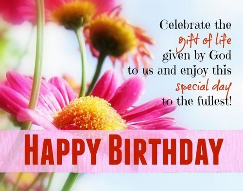 Image with happy birthday goddaughter message