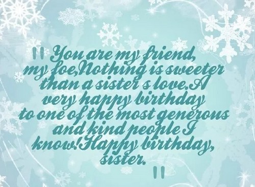 birthday wishes for my beautiful sister image