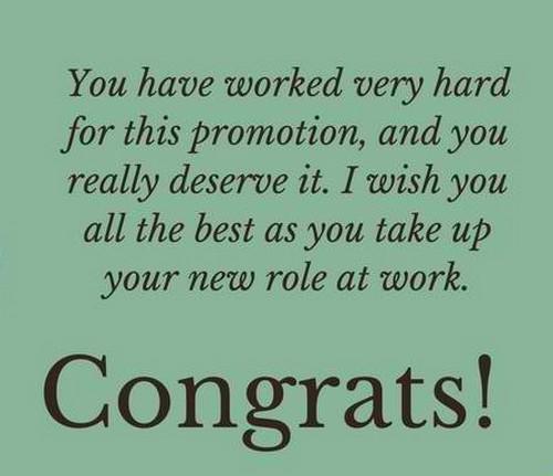 congratulation on   promotion with heartfelt message