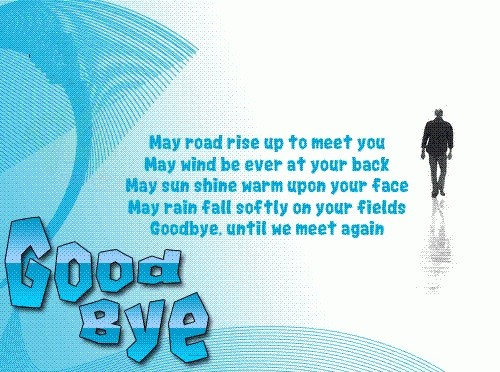 Goodbye image with farewell messages