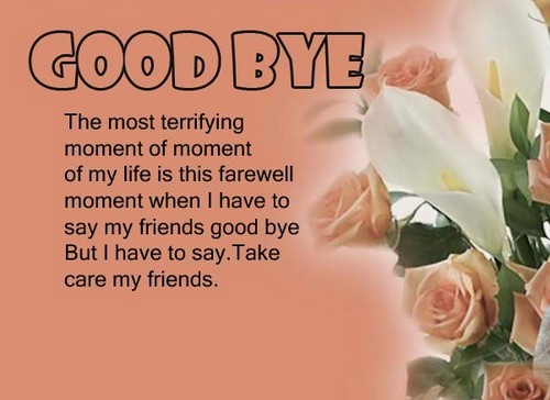farewell image with goodbye quotes