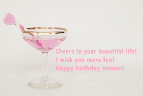 sweet happy birthday for woman